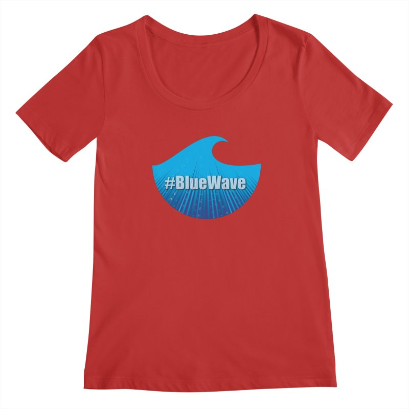 The Blue Wave Women's Regular Scoop Neck by Make a statement, laugh, enjoy.