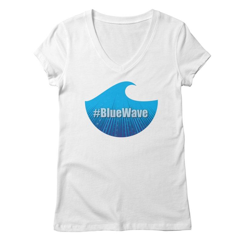 The Blue Wave Women's Regular V-Neck by Make a statement, laugh, enjoy.