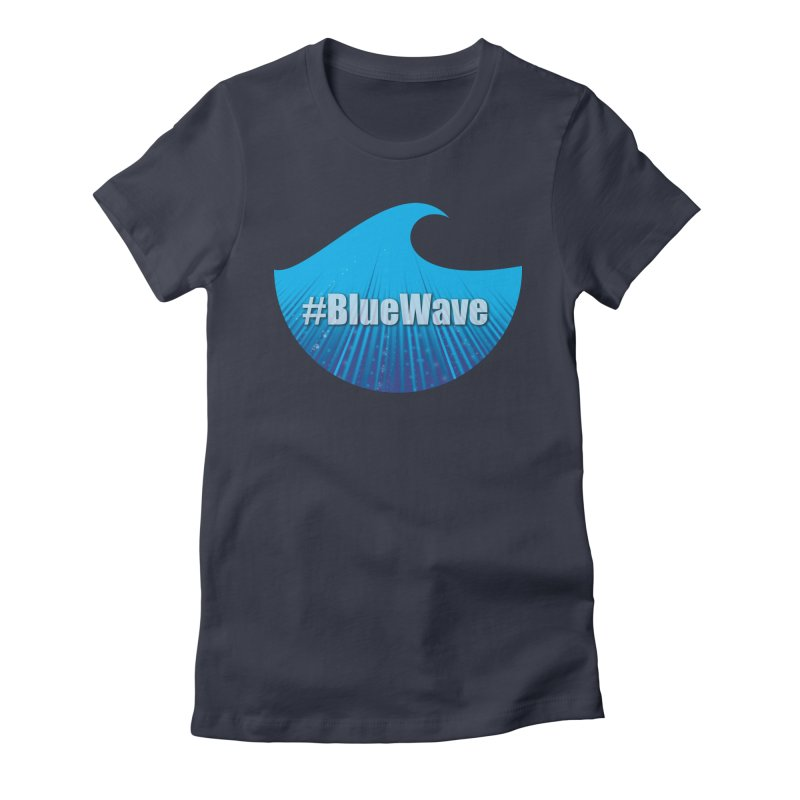 The Blue Wave Women's Fitted T-Shirt by Sporkshirts's tshirt gamer movie and design shop.