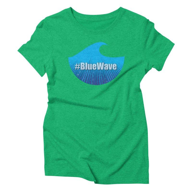 The Blue Wave Women's Triblend T-Shirt by Make a statement, laugh, enjoy.
