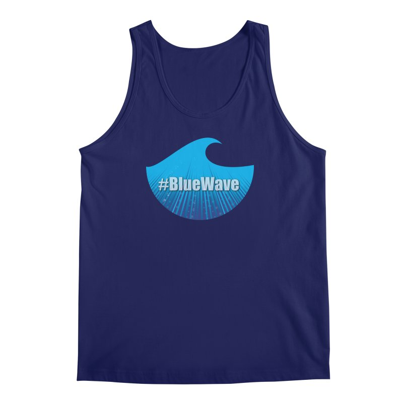 The Blue Wave Men's Regular Tank by Sporkshirts's tshirt gamer movie and design shop.