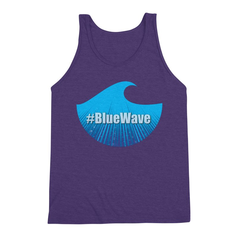 The Blue Wave Men's Triblend Tank by Make a statement, laugh, enjoy.