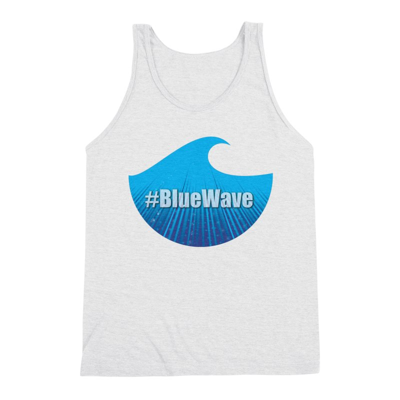 The Blue Wave Men's Triblend Tank by Make a statement, laugh, enjoy.
