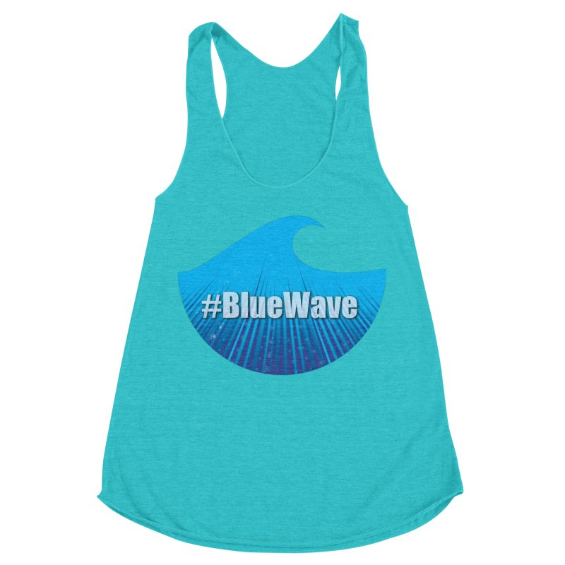 The Blue Wave Women's Racerback Triblend Tank by Make a statement, laugh, enjoy.