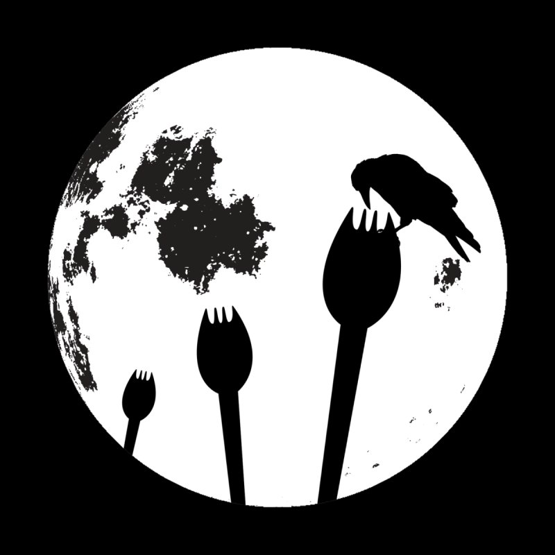 Raven in a spork grave yard and full moon. Women's Sweatshirt by Make a statement, laugh, enjoy.