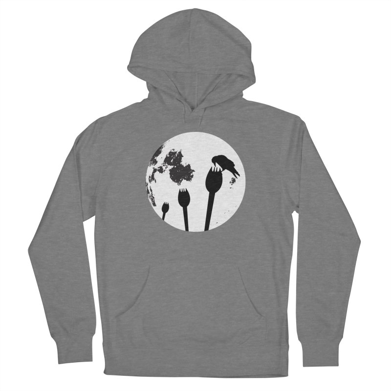 Raven in a spork grave yard and full moon. Women's Pullover Hoody by Make a statement, laugh, enjoy.
