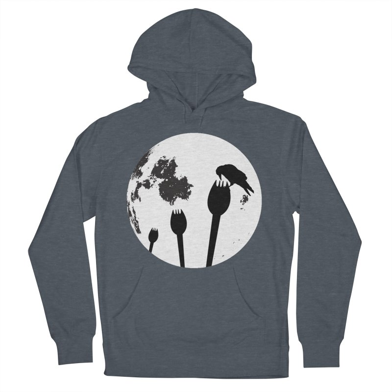 Raven in a spork grave yard and full moon. Women's French Terry Pullover Hoody by Make a statement, laugh, enjoy.