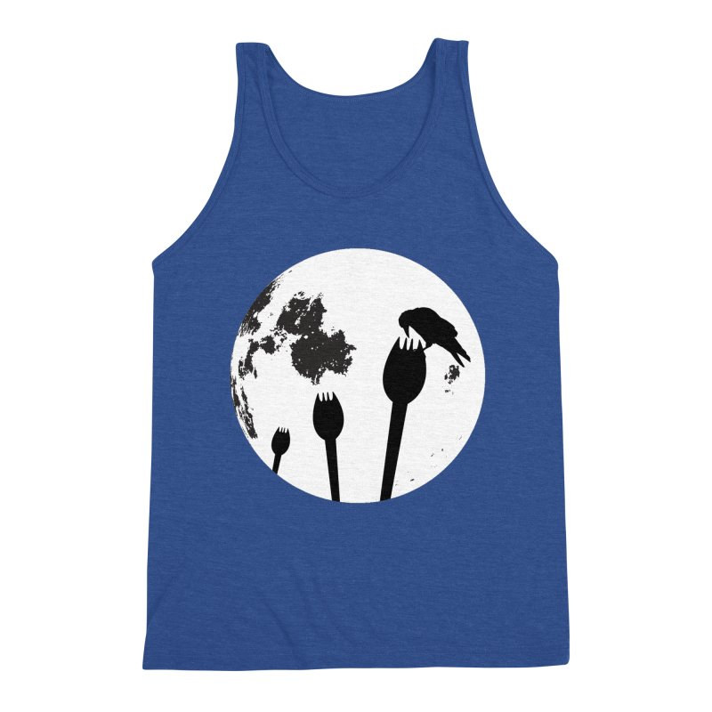 Raven in a spork grave yard and full moon. Men's Tank by Make a statement, laugh, enjoy.