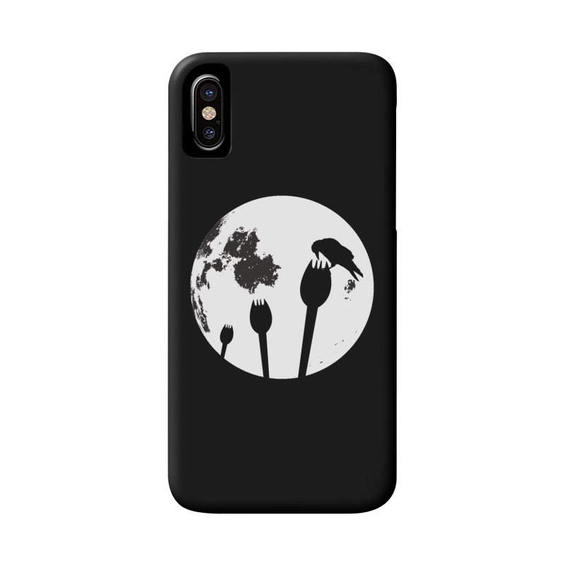Raven in a spork grave yard and full moon. Accessories Phone Case by Sporkshirts's tshirt gamer movie and design shop.