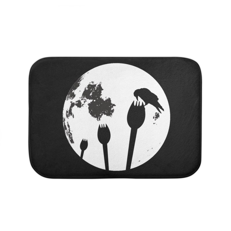 Raven in a spork grave yard and full moon. Home Bath Mat by Make a statement, laugh, enjoy.