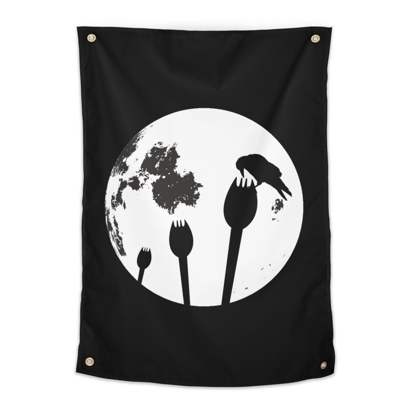 Raven in a spork grave yard and full moon. Home Tapestry by Make a statement, laugh, enjoy.