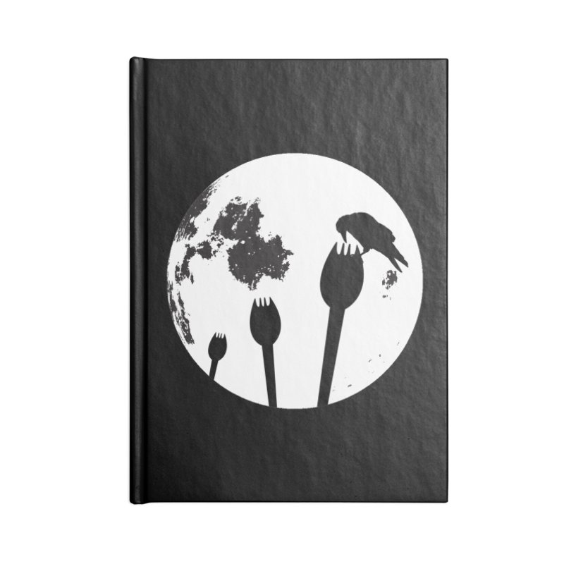 Raven in a spork grave yard and full moon. Accessories Blank Journal Notebook by Make a statement, laugh, enjoy.