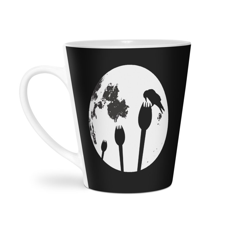 Raven in a spork grave yard and full moon. Accessories Mug by Make a statement, laugh, enjoy.
