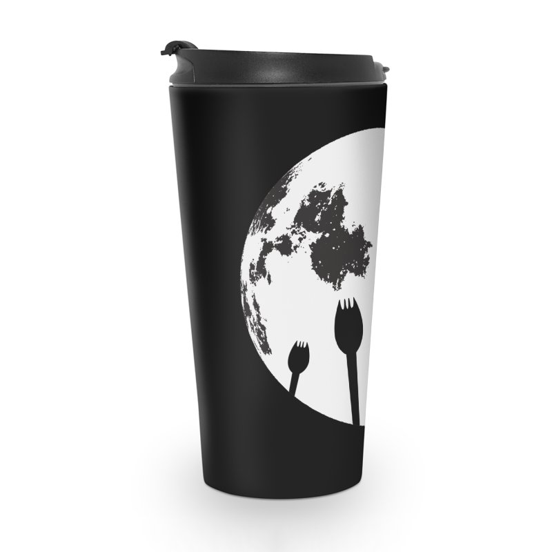 Raven in a spork grave yard and full moon. Accessories Travel Mug by Make a statement, laugh, enjoy.