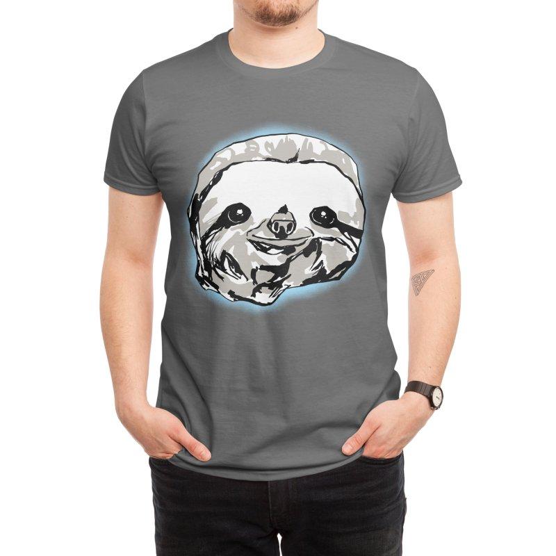 Smiley sloth Men's T-Shirt by Starheadboy