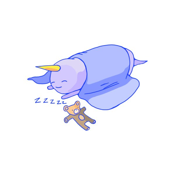 Design for Zzzzzzzz...  (a sleeping burrito unicorn)