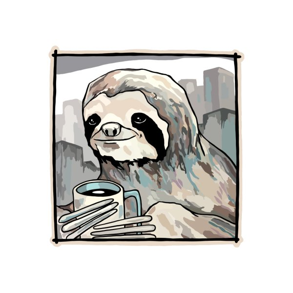 Design for Enjoying my coffee (sloth in the city)