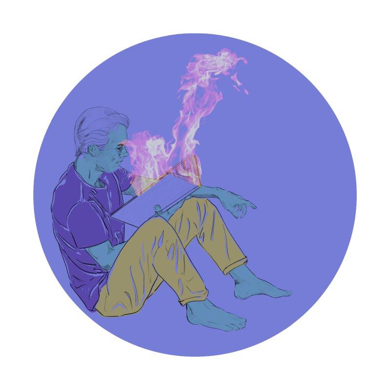 Burn While Reading Men's Sweatshirt by Stark Studio Artist Shop