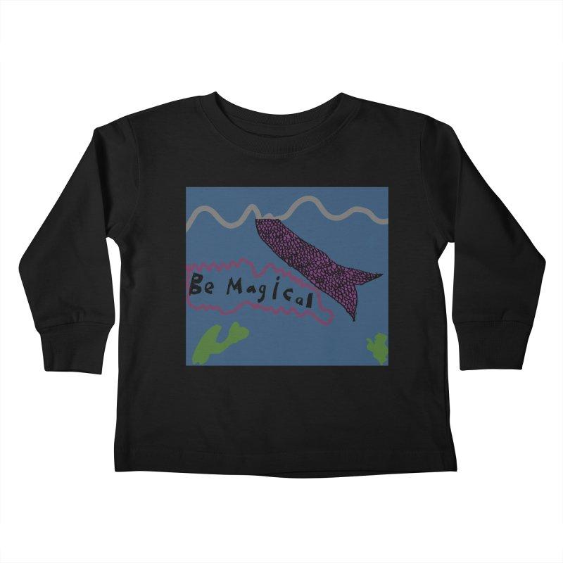 Be Magical Kids Toddler Longsleeve T-Shirt by Stark Studio Artist Shop