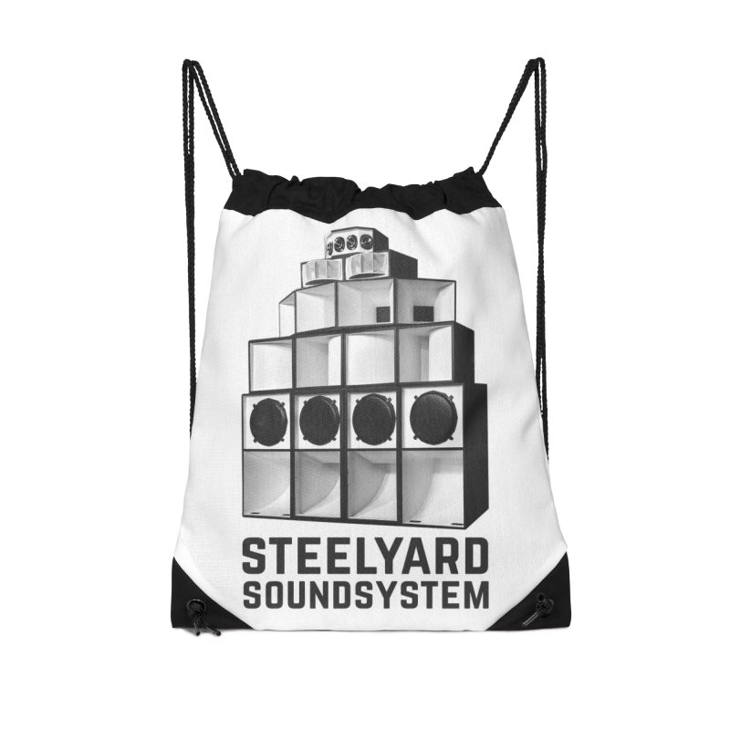 Steel Yard Sound Stack Logo Accessories Drawstring Bag Bag by Steelyard Soundsystem Gear