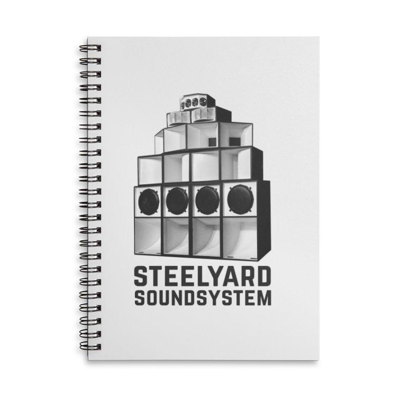 Steel Yard Sound Stack Logo Accessories Lined Spiral Notebook by Steelyard Soundsystem Gear
