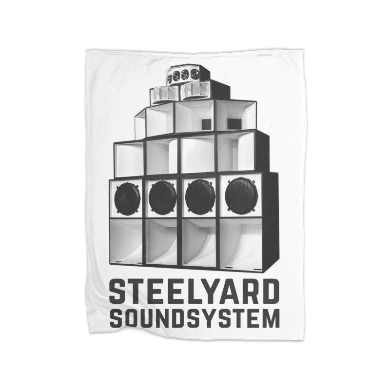 Steel Yard Sound Stack Logo Home Fleece Blanket Blanket by Steelyard Soundsystem Gear