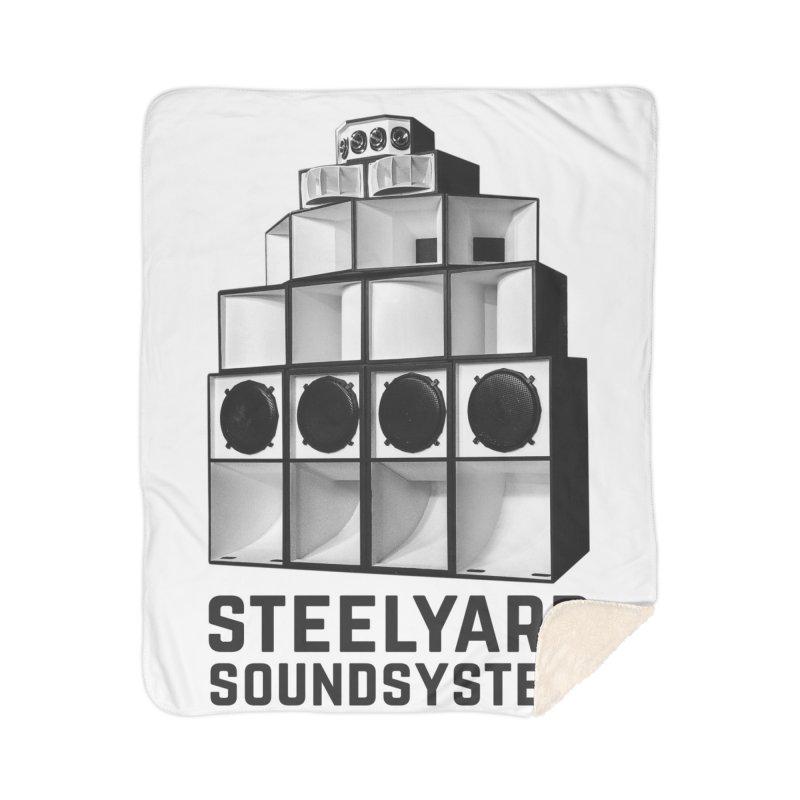 Steel Yard Sound Stack Logo Home Sherpa Blanket Blanket by Steelyard Soundsystem Gear