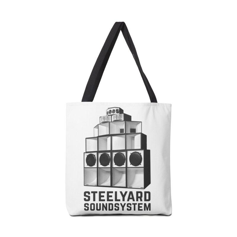 Steel Yard Sound Stack Logo Accessories Tote Bag Bag by Steelyard Soundsystem Gear