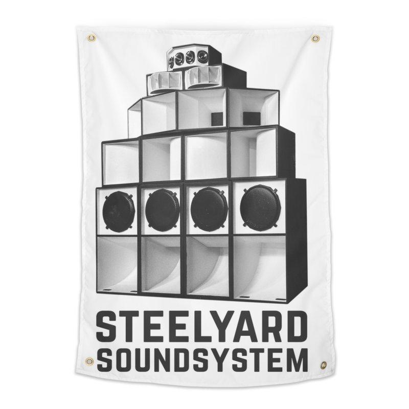 Steel Yard Sound Stack Logo Home Tapestry by Steelyard Soundsystem Gear