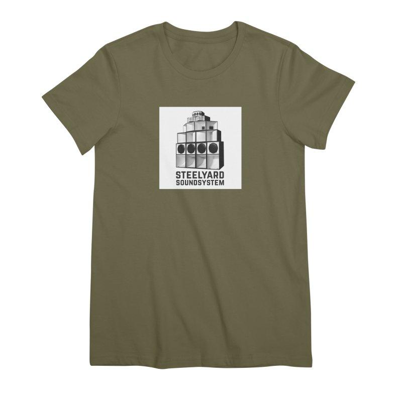 Steel Yard Sound Stack Logo Women's Premium T-Shirt by Steelyard Soundsystem Gear