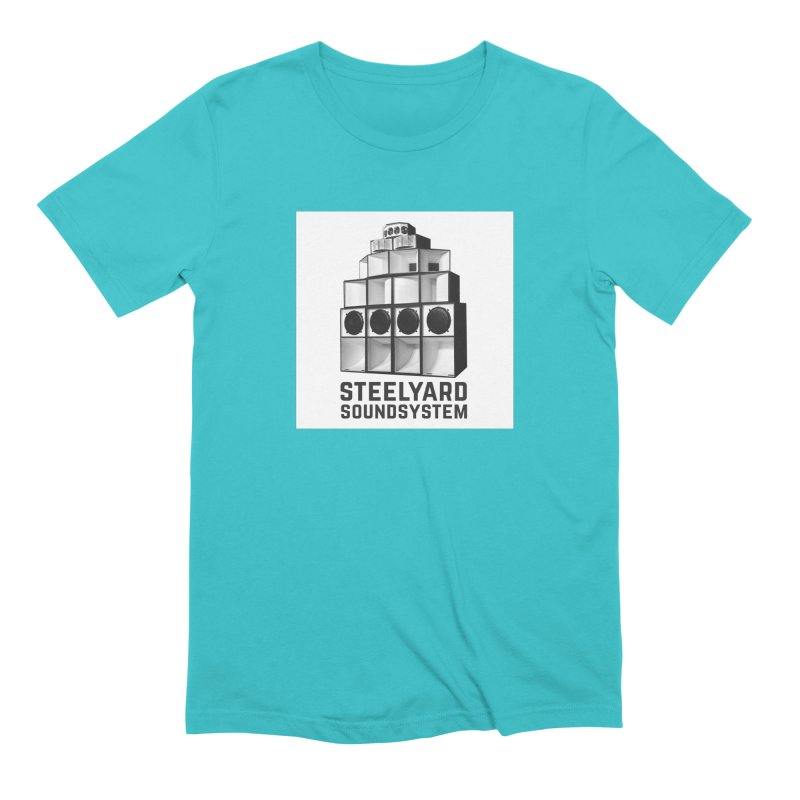 Steel Yard Sound Stack Logo Men's Extra Soft T-Shirt by Steelyard Soundsystem Gear