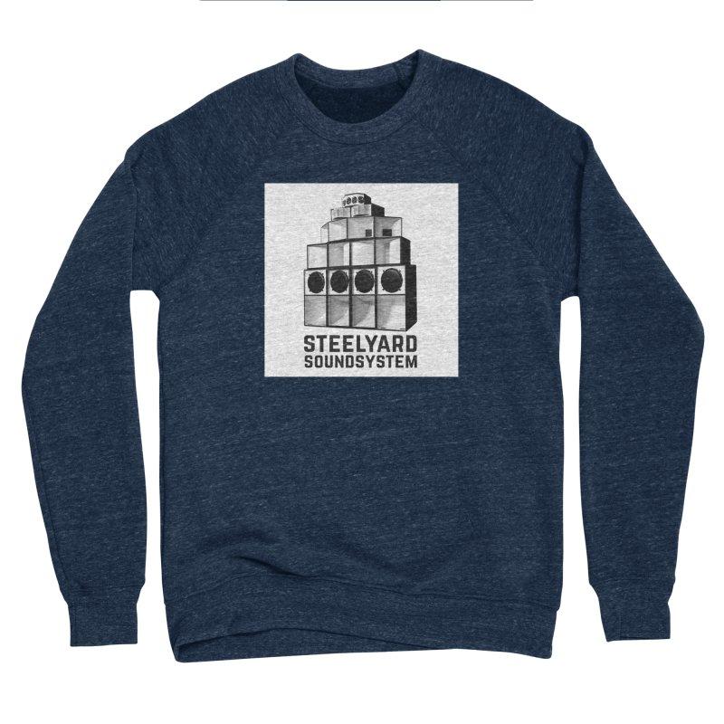 Steel Yard Sound Stack Logo Men's Sponge Fleece Sweatshirt by Steelyard Soundsystem Gear