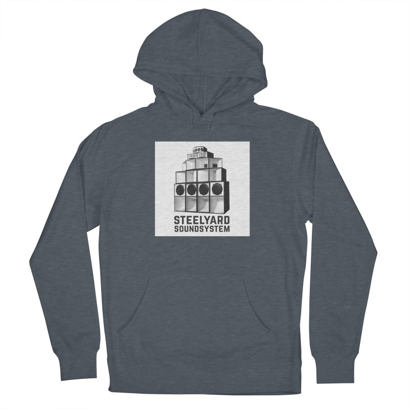 Steel Yard Sound Stack Logo Men's French Terry Pullover Hoody by Steelyard Soundsystem Gear