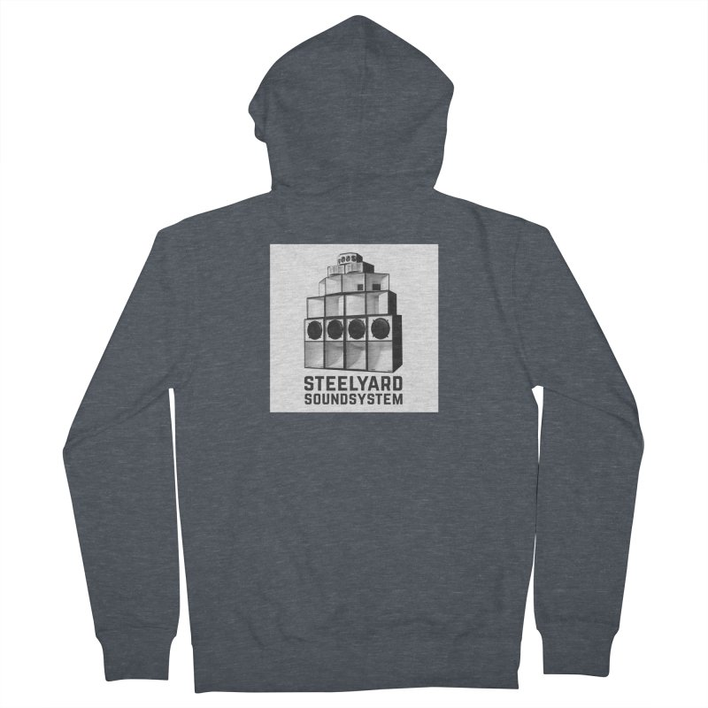 Steel Yard Sound Stack Logo Men's French Terry Zip-Up Hoody by Steelyard Soundsystem Gear