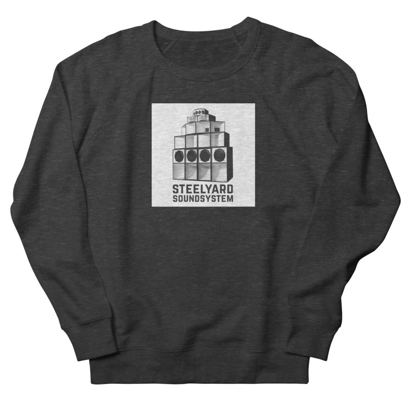 Steel Yard Sound Stack Logo Men's French Terry Sweatshirt by Steelyard Soundsystem Gear