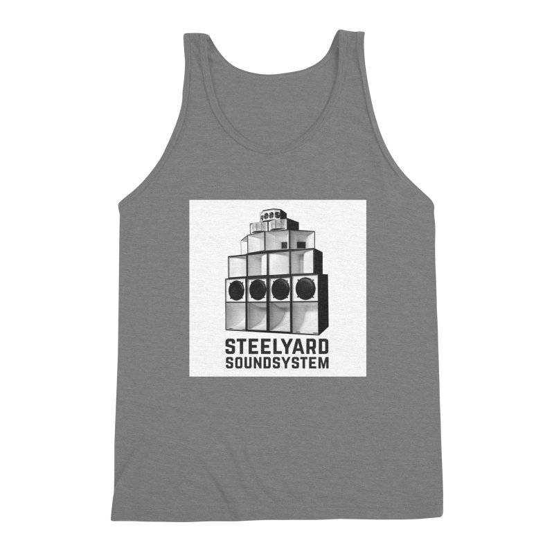 Steel Yard Sound Stack Logo Men's Triblend Tank by Steelyard Soundsystem Gear