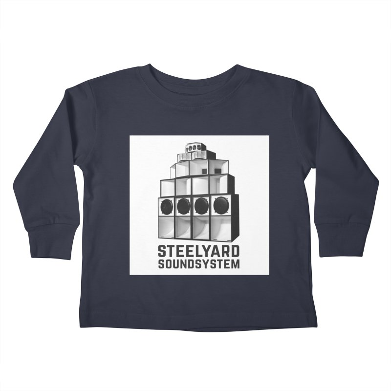 Steel Yard Sound Stack Logo Kids Toddler Longsleeve T-Shirt by Steelyard Soundsystem Gear