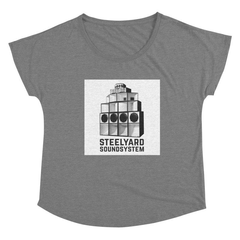 Steel Yard Sound Stack Logo Women's Scoop Neck by Steelyard Soundsystem Gear