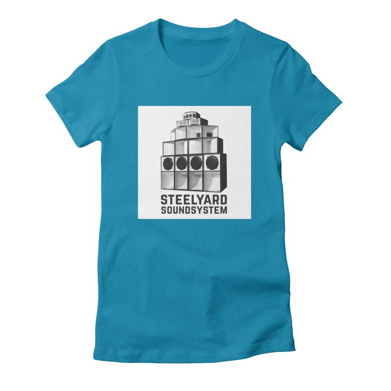 Steel Yard Sound Stack Logo Women's Fitted T-Shirt by Steelyard Soundsystem Gear