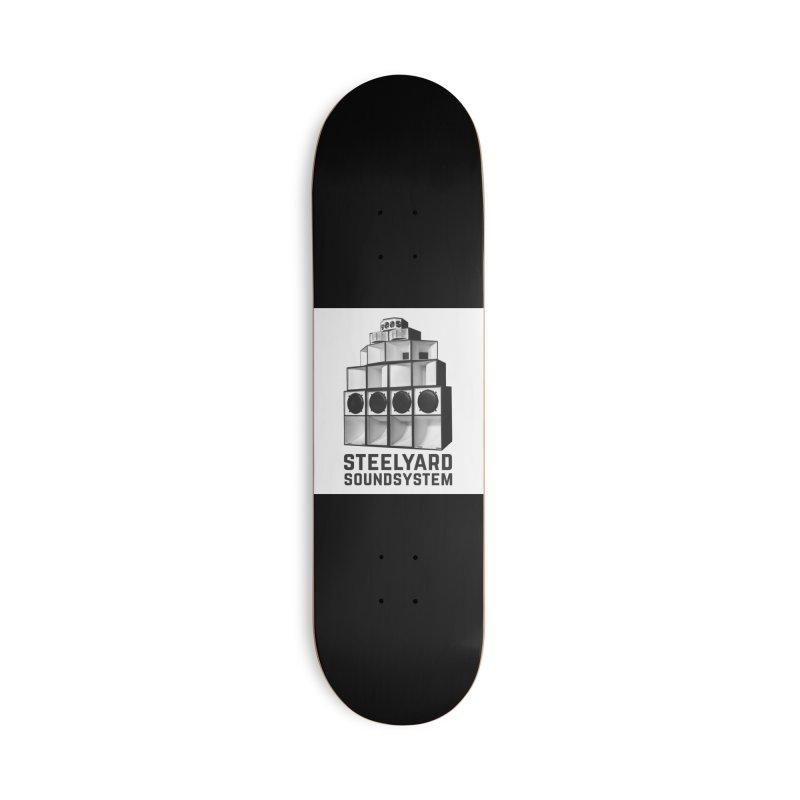 Steel Yard Sound Stack Logo Accessories Skateboard by Steelyard Soundsystem Gear