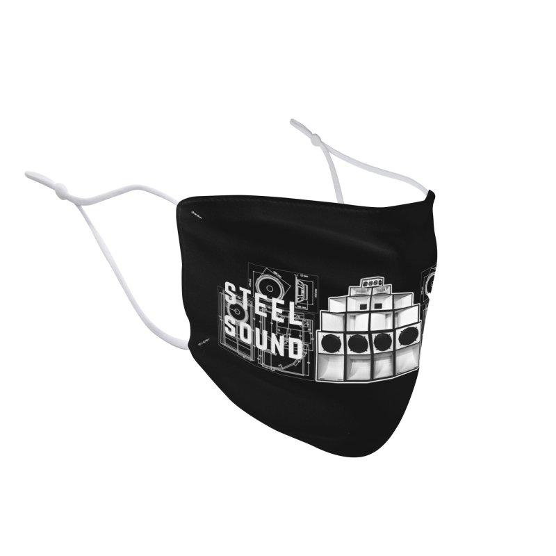 Steel Yard Sound Schematics Logo Accessories Face Mask by Steelyard Soundsystem Gear