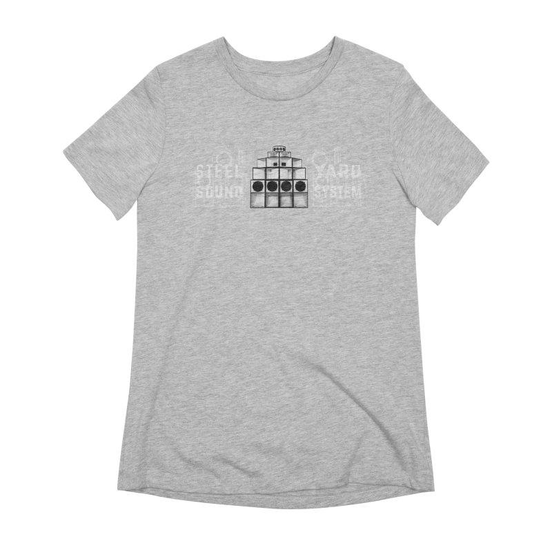 Steel Yard Sound Schematics Logo Women's Extra Soft T-Shirt by Steelyard Soundsystem Gear