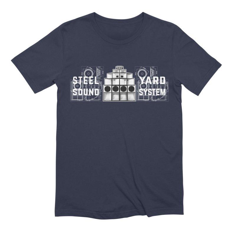 Steel Yard Sound Schematics Logo Men's Extra Soft T-Shirt by Steelyard Soundsystem Gear