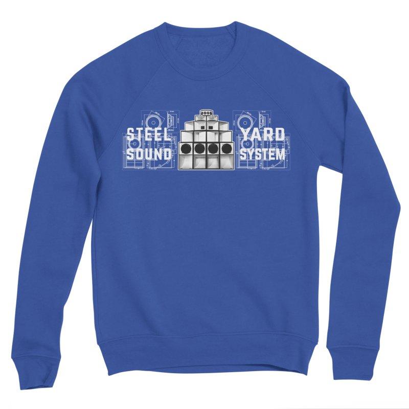 Steel Yard Sound Schematics Logo Men's Sponge Fleece Sweatshirt by Steelyard Soundsystem Gear