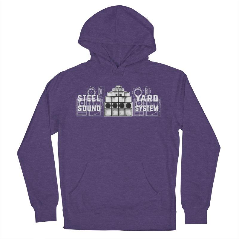 Steel Yard Sound Schematics Logo Women's French Terry Pullover Hoody by Steelyard Soundsystem Gear