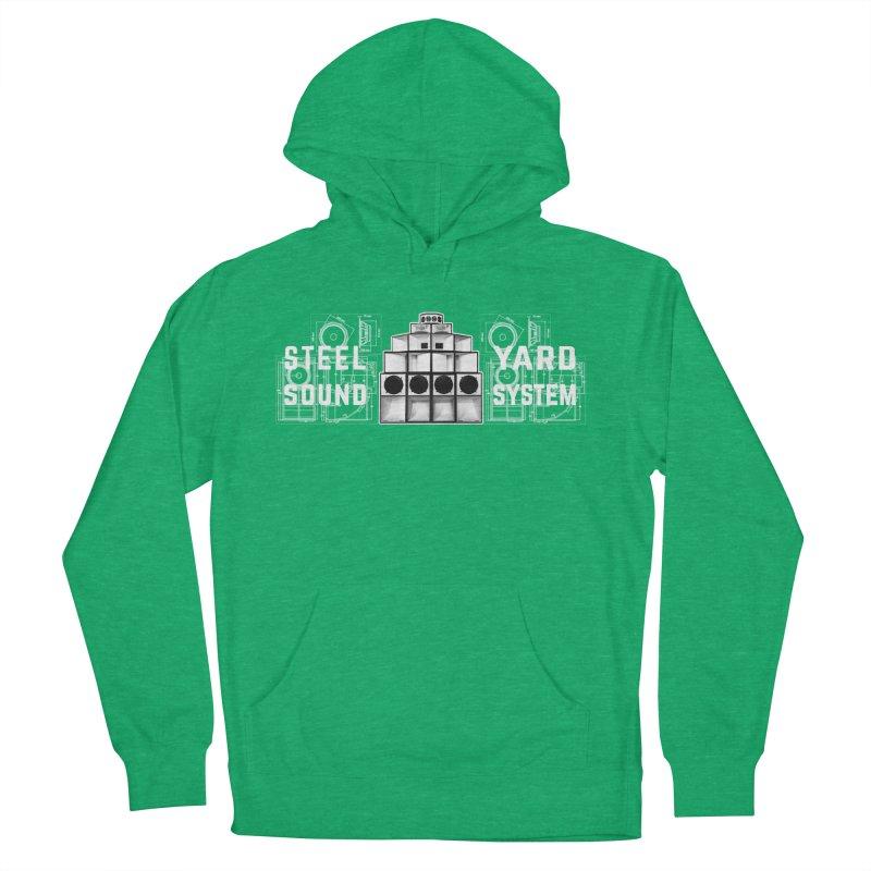 Steel Yard Sound Schematics Logo Men's French Terry Pullover Hoody by Steelyard Soundsystem Gear