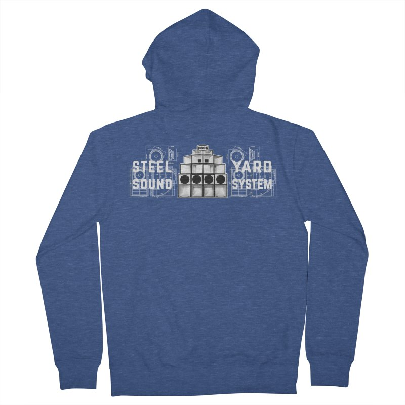Steel Yard Sound Schematics Logo Men's French Terry Zip-Up Hoody by Steelyard Soundsystem Gear