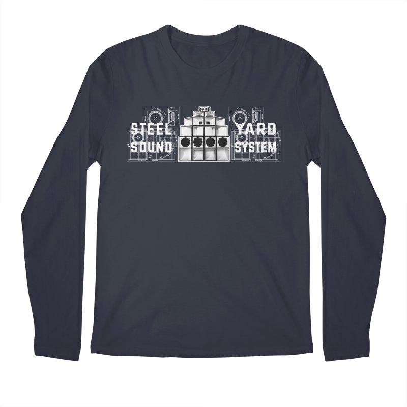 Steel Yard Sound Schematics Logo Men's Regular Longsleeve T-Shirt by Steelyard Soundsystem Gear