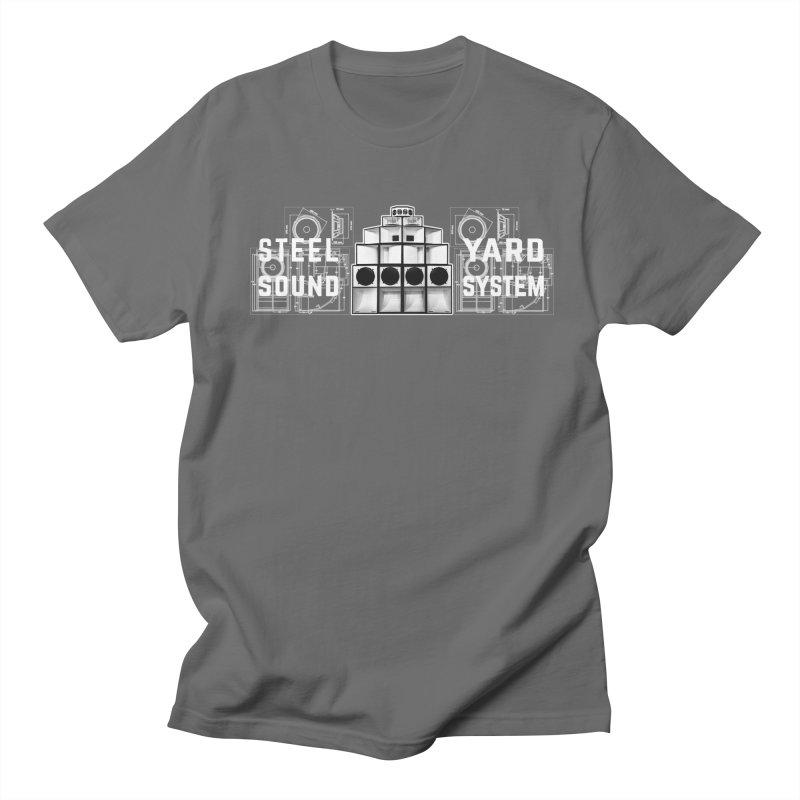 Steel Yard Sound Schematics Logo Men's T-Shirt by Steelyard Soundsystem Gear