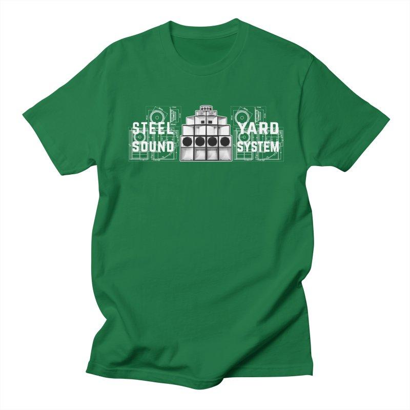Steel Yard Sound Schematics Logo Men's Regular T-Shirt by Steelyard Soundsystem Gear